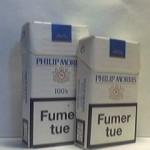PHILIP MORRIS Blanc bleu select tobacco Additifs 8%
