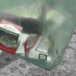 Dans une poubelle