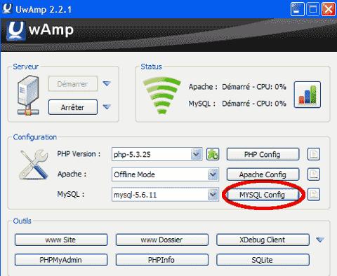 UwAmp_MYSQL_config