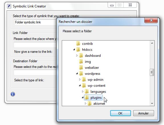 Sélectionner /wp-content/plugins