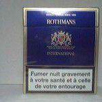 ROTHMANS International Bleu additifs 2%
